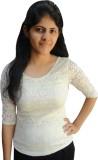 Shubh Sai Formal 3/4th Sleeve Self Desig...