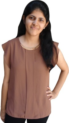 Shubh Sai Formal Short Sleeve Floral Print Women's White Top