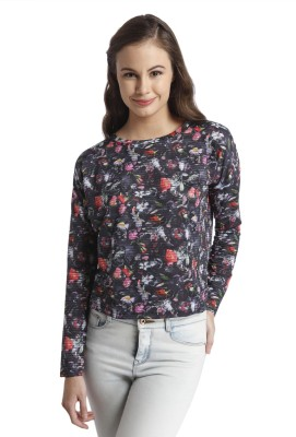 Only Casual Full Sleeve Printed Women's Black Top