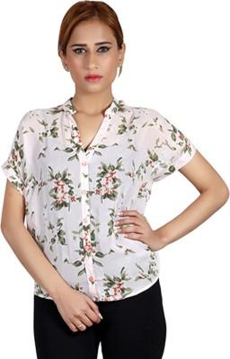 Pour Femme Casual Short Sleeve Floral Print Women's Multicolor Top