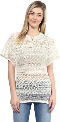 Darling Casual Cape Sleeve Woven Women's Beige Top