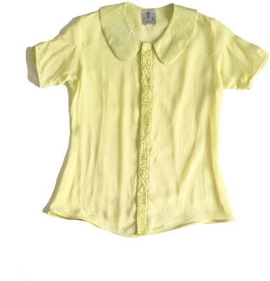 Renvoyer Formal, Casual, Party Short Sleeve Solid Women's Green Top