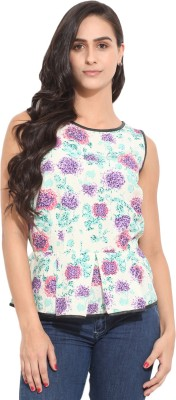Honey & B Casual Sleeveless Printed Women,s Multicolor Top