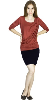 Dream of Glory Inc. Festive, Party Full Sleeve Solid Women's Red Top