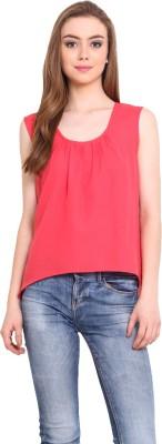 Femenino Casual Sleeveless Solid Women's Pink Top