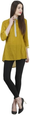Uptowngaleria Formal 3/4 Sleeve Solid Women's Green Top