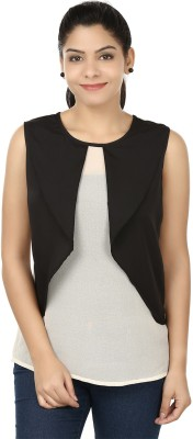 Eves Pret A Porter Casual Sleeveless Solid Women's White, Black Top