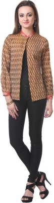 Oghaindia Casual Full Sleeve Checkered Women's Brown Top