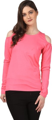 FashionExpo Casual Full Sleeve Solid Women's Pink Top