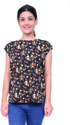 Lamora Casual Short Sleeve Floral Print Women,s Multicolor Top