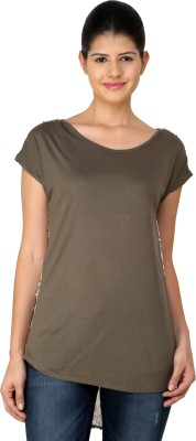 StyleToss Casual Short Sleeve Printed Women's Green Top