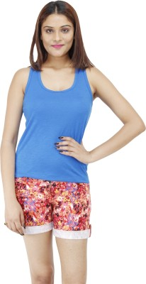 Colornext Casual Sleeveless Solid Women,s Blue Top