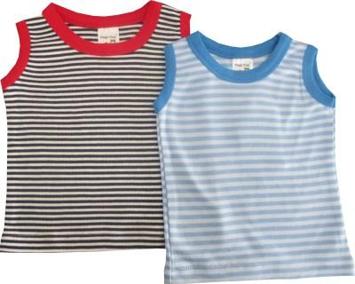 Magic Train Casual Sleeveless Striped Baby Girl's Black, Blue, White Top