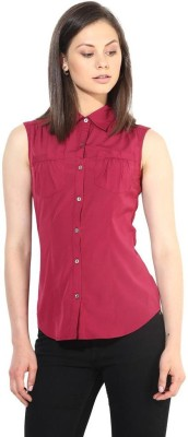 The Vanca Formal Sleeveless Solid Women's Pink Top at flipkart