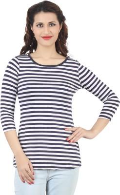 FamGlam Casual 3/4 Sleeve Self Design Women's Multicolor Top