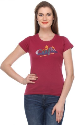 Rose Taylor Casual 3/4 Sleeve Printed Women's Red Top