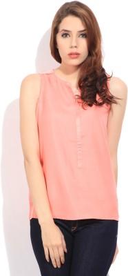 Arrow Casual Sleeveless Solid Women's Orange Top