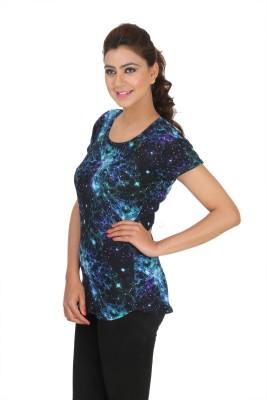 Broche Casual Short Sleeve Graphic Print Women's Multicolor Top