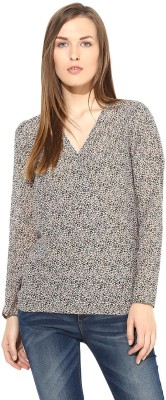 The Vanca Casual Full Sleeve Floral Print Women's Beige Top at flipkart