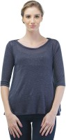 Merch21 Casual Full Sleeve Solid Women's Dark Blue Top best price on Flipkart @ Rs. 348