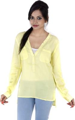 Kashana Fashions Casual Full Sleeve Solid Women's Yellow Top