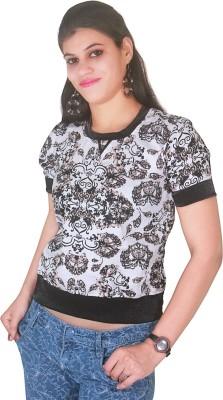 Selfi Festive Short Sleeve Printed Women's Multicolor Top
