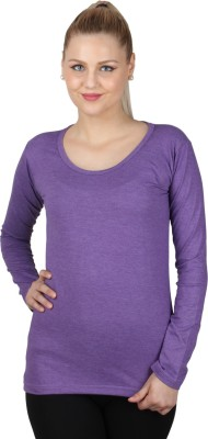 SayItLoud Casual Full Sleeve Solid Women,s Purple Top