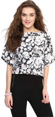 Uptownie Lite Casual Short Sleeve Floral Print Women's Multicolor Top