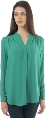 Lemon Chillo Casual Full Sleeve Solid Women's Green Top
