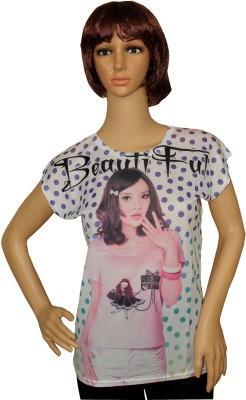 Sarva Casual Short Sleeve Printed Women's Multicolor Top