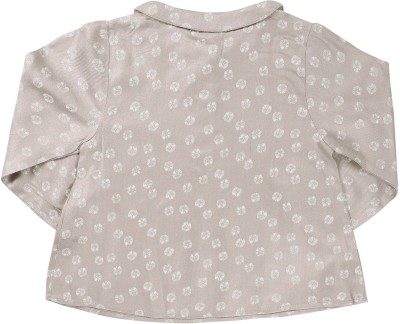 ShopperTree Casual Full Sleeve Printed Baby Girl's Grey Top