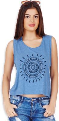 20Dresses Casual Sleeveless Printed Women's Blue, Black Top