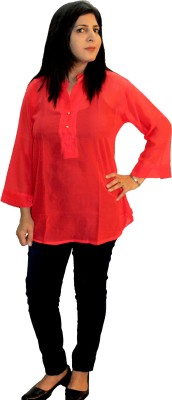 Shonaa Casual Full Sleeve Solid Women's Pink Top