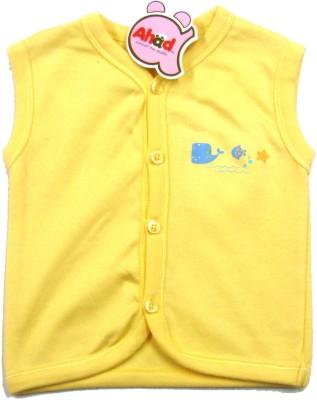 Ahad Casual Sleeveless Solid Baby Girl's Yellow Top