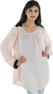 Aimeon Casual Full Sleeve Self Design Women's Pink Top