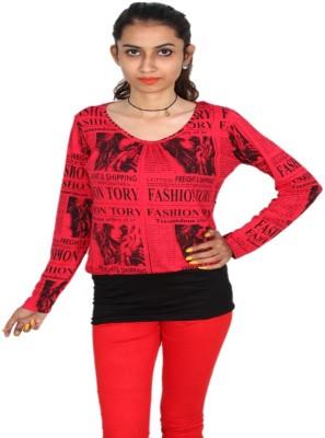 Vanya Enterprises Casual Full Sleeve Printed Women's Multicolor Top