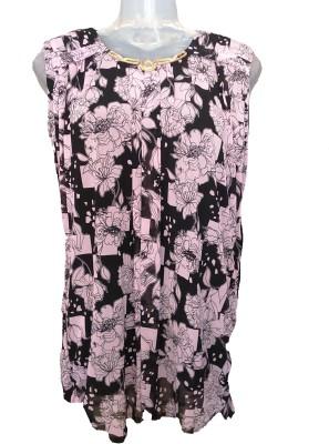 Jhumri Casual Short Sleeve Floral Print Girl's Pink Top