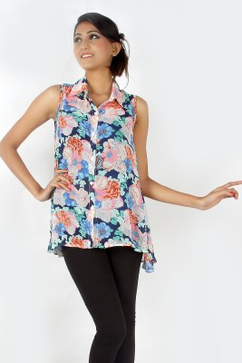 Zolake Casual Sleeveless Printed Women's Multicolor Top