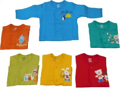 Zero Casual Full Sleeve Animal Print Baby Girl's Blue, Orange, Green, Yellow, Red, Light Green Top