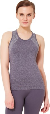 Amante Sports Sleeveless Solid Women's Grey Top