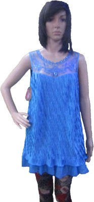 AARADHYA BOUTIQUE Party Sleeveless Solid Women,s Blue Top