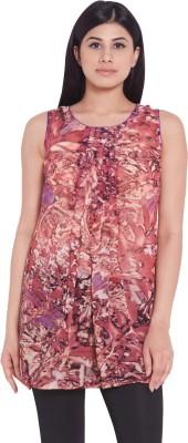 Globus Casual Sleeveless Printed Women's Multicolor Top