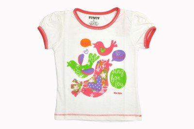 Hunch Casual Cap sleeve Graphic Print Girl's White Top