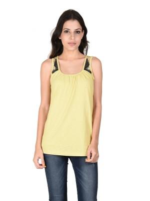 Latin Quarters Formal Sleeveless Solid Women,s Green Top