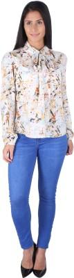 Fashionwardrobe Casual Full Sleeve Printed Women,s White Top