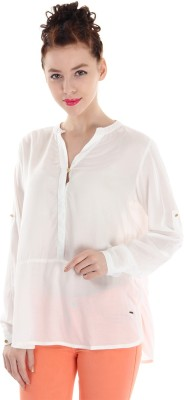 Pepe Jeans Casual Full Sleeve Solid Women's White Top