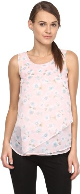 Annapoliss Casual Sleeveless Floral Print Women's Multicolor Top