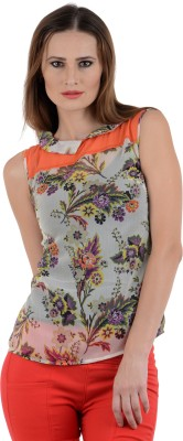 The Clove Party Sleeveless Floral Print Women's Multicolor Top