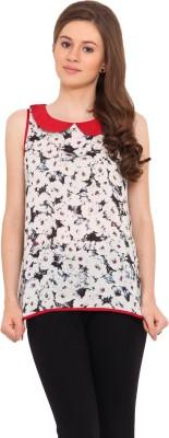 La Arista Casual Sleeveless Floral Print Women's Multicolor Top