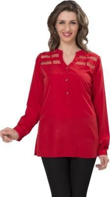 Ishindesignerstudio Party Full Sleeve Solid Women's Red Top